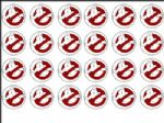 24 x Ghostbusters Movie Logo  Rice Wafer Paper Bun Cake Top Toppers Freepost